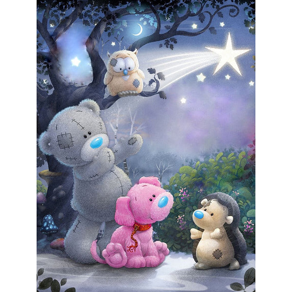 "Full Square Drill 5D Diamond Painting ""Cartoon Bear"""