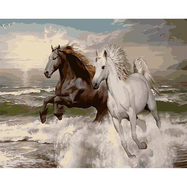 No Frame Horse in the Seaside Paintings by Numbers