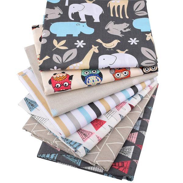 7 Piece Lot Patchwork Fabric (16″ X 20″) Animals Collection