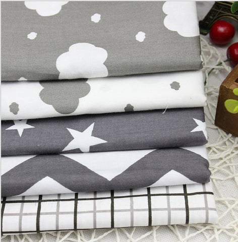 5pcs Cotton Fabric Romantic starry sky