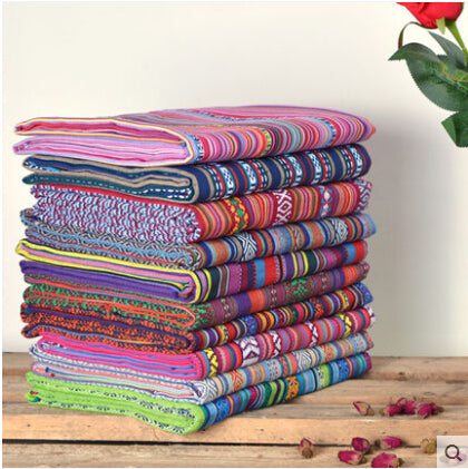 Ethnic Cotton Linen Fabric