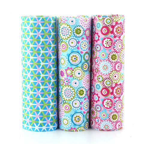 3 Piece Lot Patchwork Fabric (15″ X 20″) Floral Collection