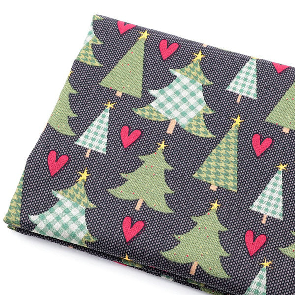 "8pcs Cotton Fabric (10"" x 10"") New Green Christmas"