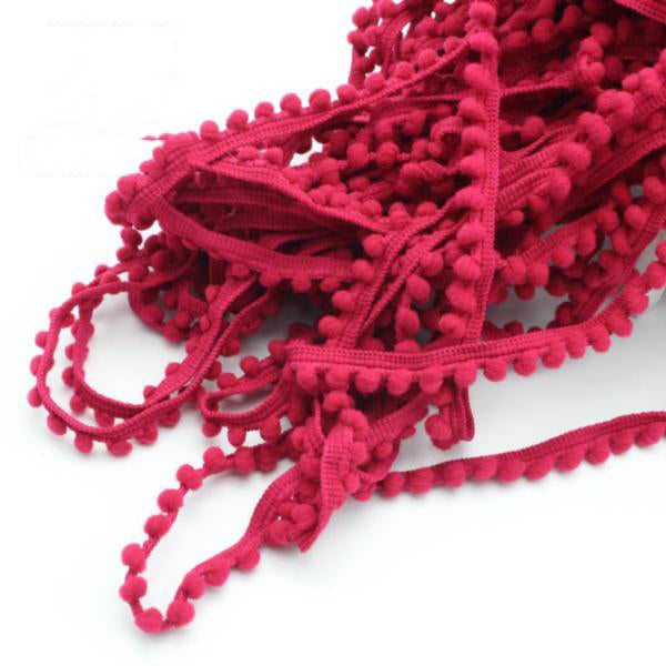 "2 yards/lot 0.4"" Pom Pom Trim Ball Braid Lace"