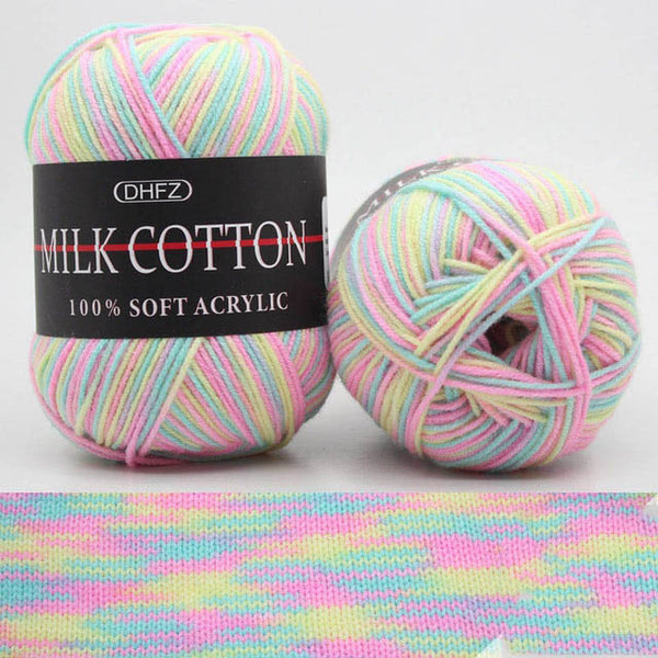23Colors 50g Double Knitting Crochet Milk Soft Baby Cotton Wool Yarn
