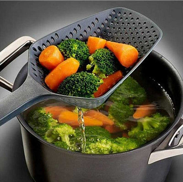Black Cooking Vegetable Shovel Colander Spoon