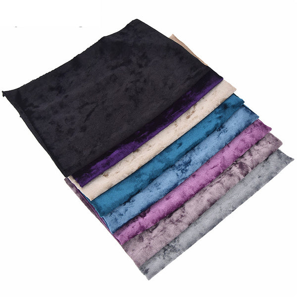 "Polyester Spandex Velvet Fabric (11""x8"") Colorful Flexible Cloth"