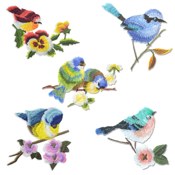 Lovely Bird Patches Sewing On Iron On Embroidered