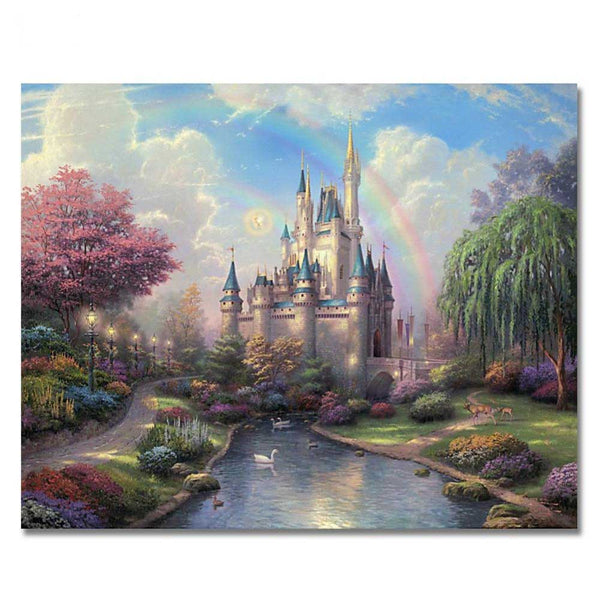 Dream Castle Painting Pictures By Numbers