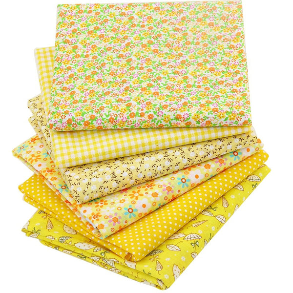 "6pcs Thin Cotton Fabric (20"" x 20"") Package Scrapbook Floral"