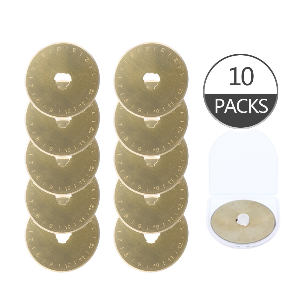 "10pcs Titanium Coated 1.8"" Rotary Cutter Blades"