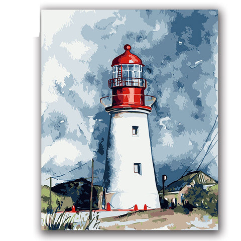 Lighthouse Defend Painting By Numbers