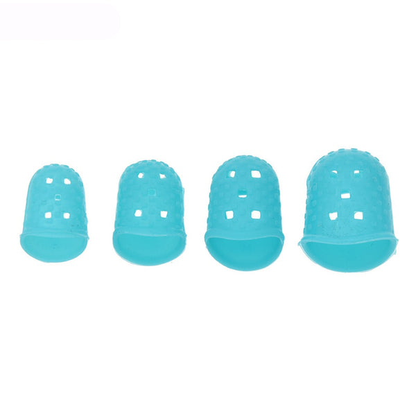 4pcs Silicone Thimble Tip Hollowed Out Breathable Freely