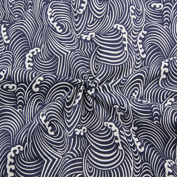 "3pcs  Cotton Fabric  (16"" x 20"") Dark Blue - Black  Series"