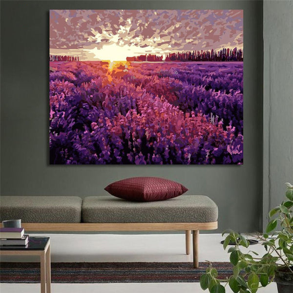 Paint By Numbers Digital Lavender Garden