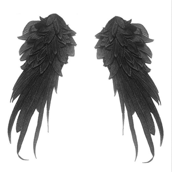 1 Pair Stylish Embroidered Angel Wings Fabric Patch