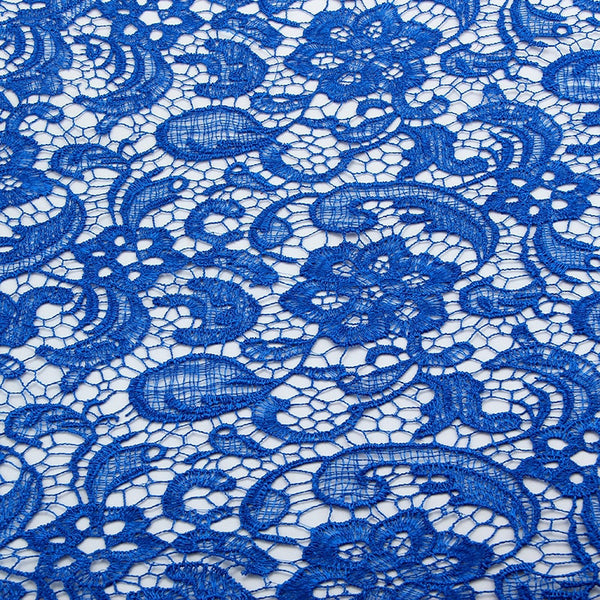 "Fabric Milk Silk ( 49"" x 20"") Embroidered Polyester Lace"