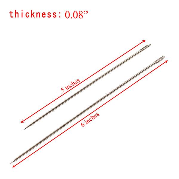 2Pcs Big Size Large Long Steel Needle Big Holes