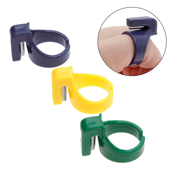 3Pcs Finger Knife Ring Sewing Thimble Thread