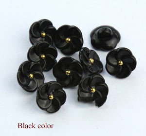 "30Pcs Fashion Shirt Flower 0.5"" Buttons"