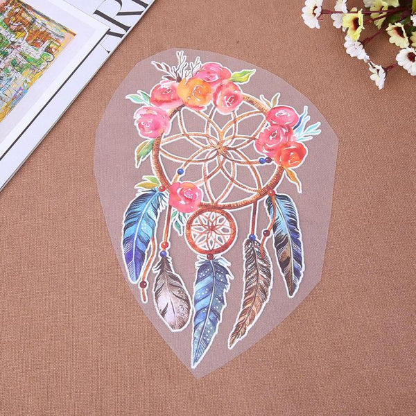 3D Rose Dreamcatcher Iron-on Patches