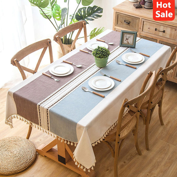 Modern Decorative Table Cloth Tassel Lace Rectangle