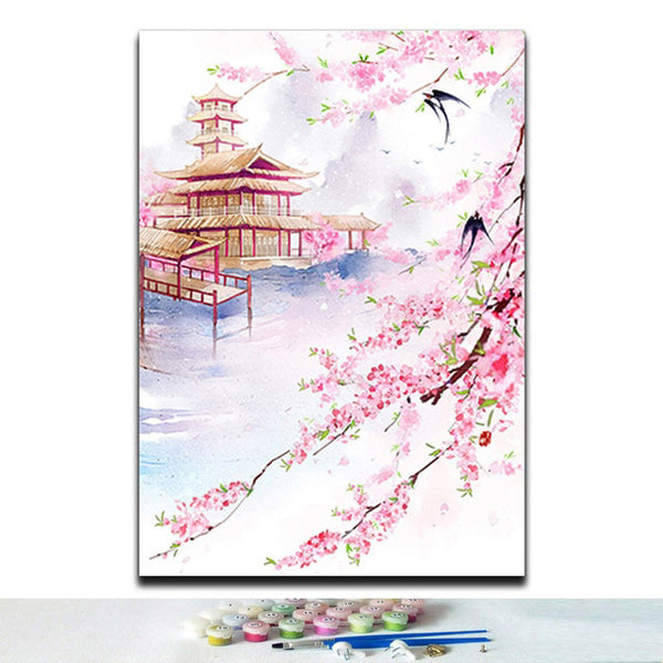 Paint by Numbers Traditional Chinese Style Flowers