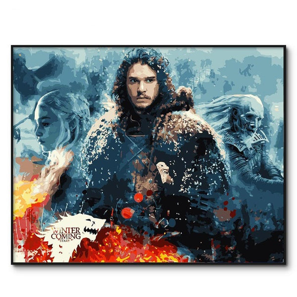 No Frame Game of Thrones Painting by Numbers