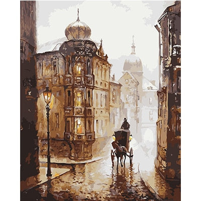 Scenery Oil Paint by Number Classical Street