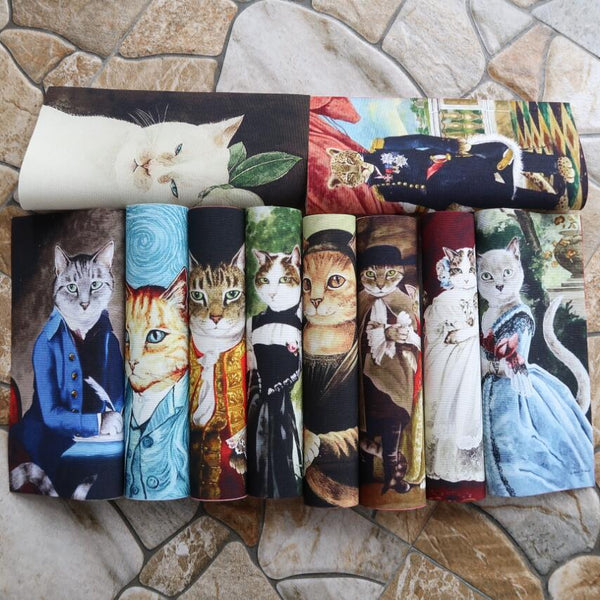 Retro Cats Fabric Handwork