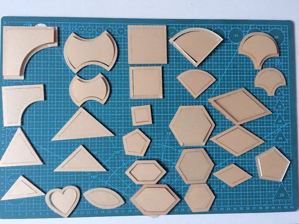 54 Piece Acrylic Quilting Templates
