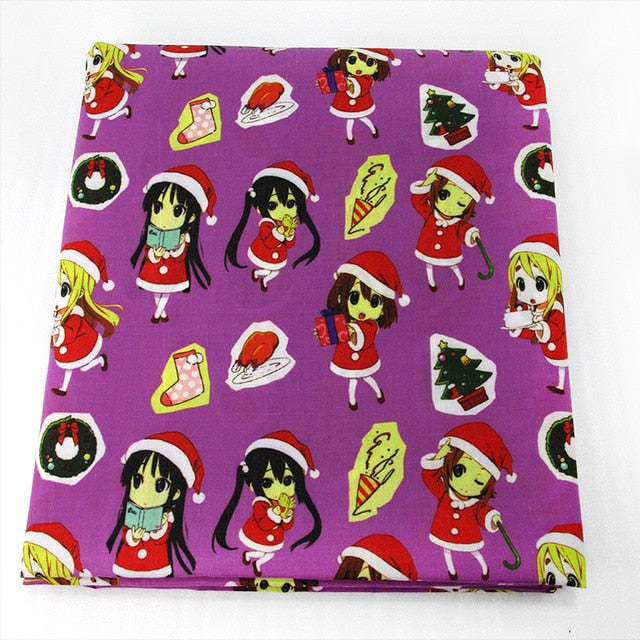 "1 PC Polyester Cotton Fabric (20"" x 57"") Christmas Patchwork"