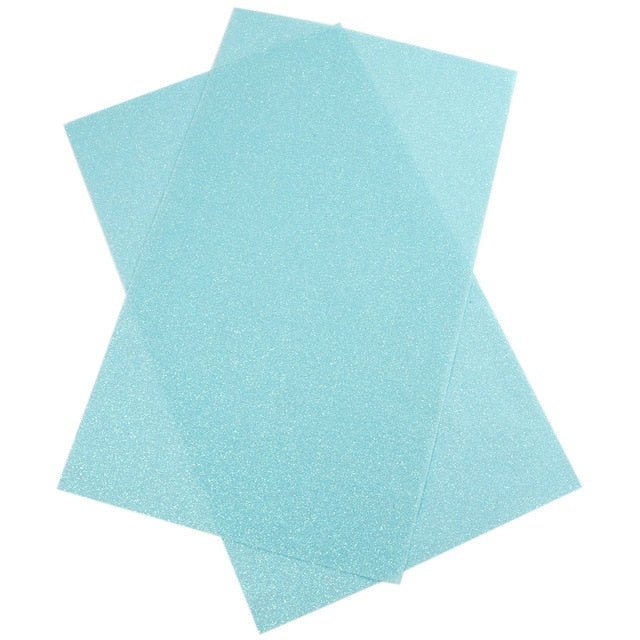 "Leather Glitter Fabric (8"" x 13"") Synthetic Leather"