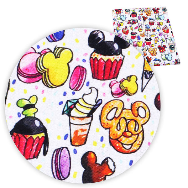 "100% Cotton Fabric (20"" x 55"") Cute Cartoon Design"