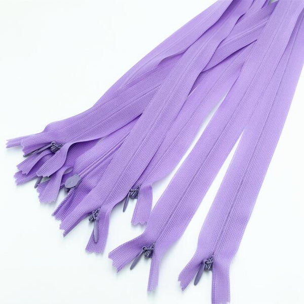"20pcs Zippers Colored Concealed Zipper 16"" inches"