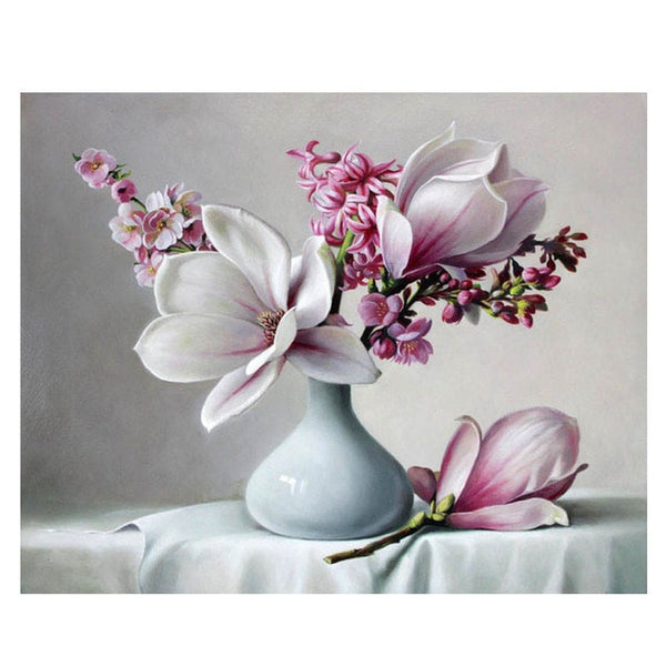 Painting By Numbers Oil Painting Flower