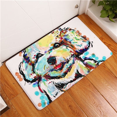 Modern Flannel Mats Lovely Dog Print