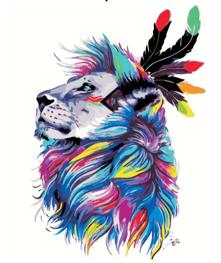 Painting by Numbers Colorful Animals