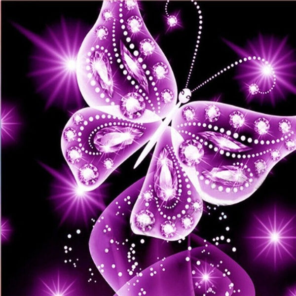 5D Diamond Painting  Butterfly Flower