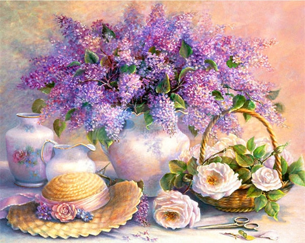 Diamond Painting Lavender Flowers