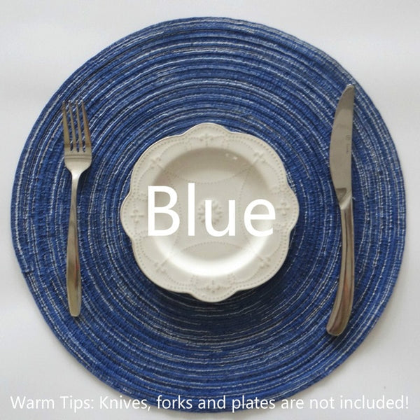 Table Ramie Insulation Pad Round Placemats