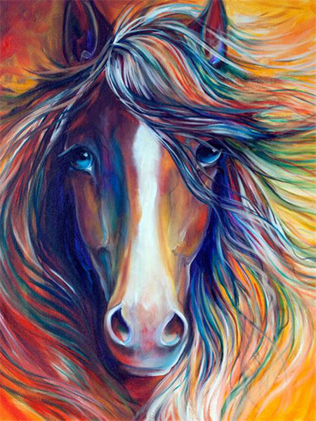5D Diamond Painting Horse Couple
