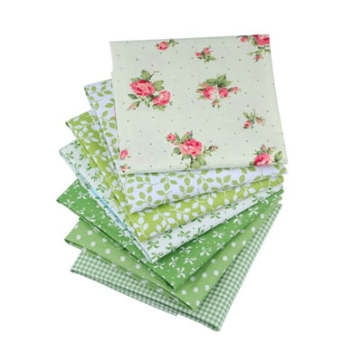 "7pcs Fabric  Cotton (8""x10"") High Quality 10 Style Charm Packs"