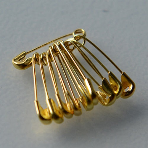 100 Pcs Gold / Silver Small Safety Pins