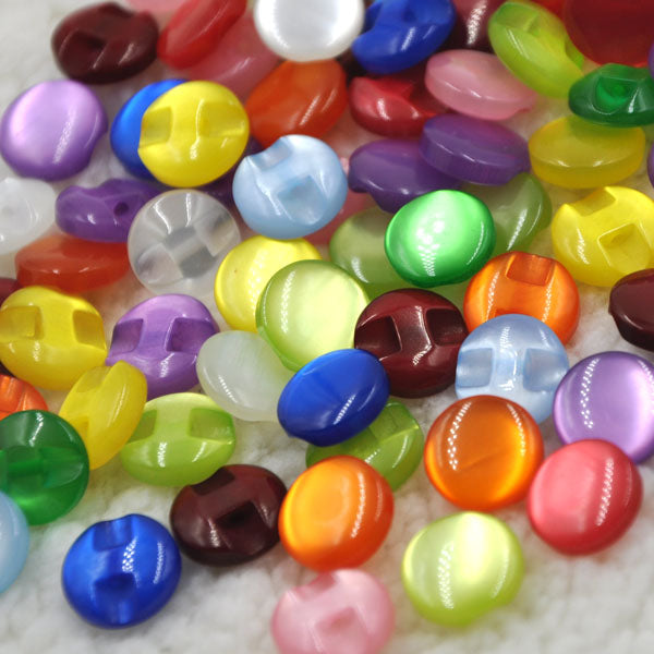100pcs Candy Color Eye Cat Stone Button