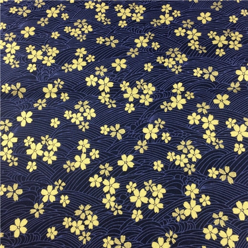 "Cotton Bronzed Fabric 18"" x 18"" Japanese Style Butterfly"
