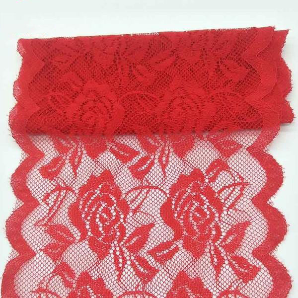 2 Yard African Lace Fabric Rose Flower Pattern