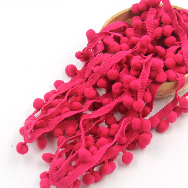 Pom Pom Trim Ball  Ribbon