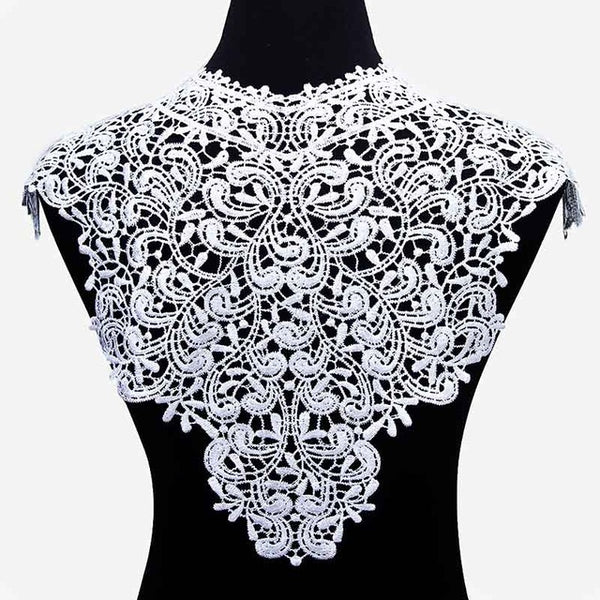 1pc Polyester Flower Lace Neckline Fabric