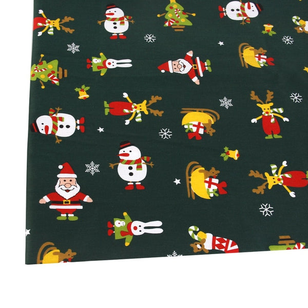 "Cotton Fabric (20"" x 57"") Christmas Patchwork"